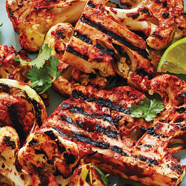 Tandoori-style Charred Salmon And Vegetables Recipes — Dishmaps