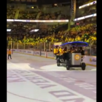 The Preds Rolled Out a Pedal Tavern On the Ice Last Night