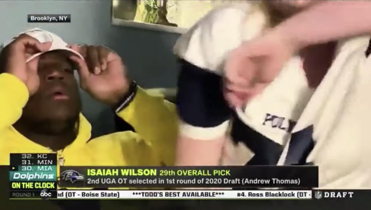 Don't Deny Isaiah Wilson's Mama a Hug on Draft Night - SoBros Network