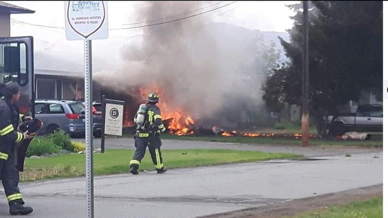 Snowbird jet crashes in Kamloops, B.C.