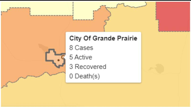Two more cases of COVID-19 reported in Grande Prairie