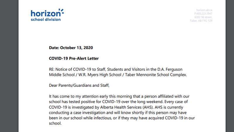 Three Taber Schools Alerted About Positive Covid 19 Test Chat News Today