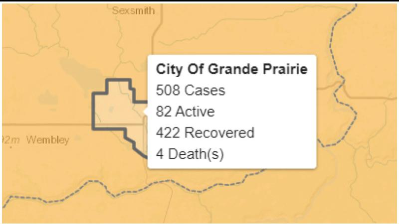 By Shaun Penner COVID-19 UPDATE December 3 Sixteen new COVID-19 cases recorded in Grande Prairie