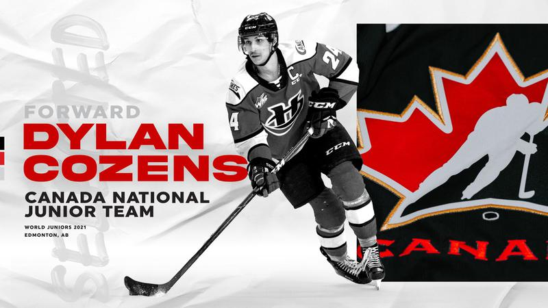 Lethbridge Hurricane Dylan Cozens named to Canada's world junior roster