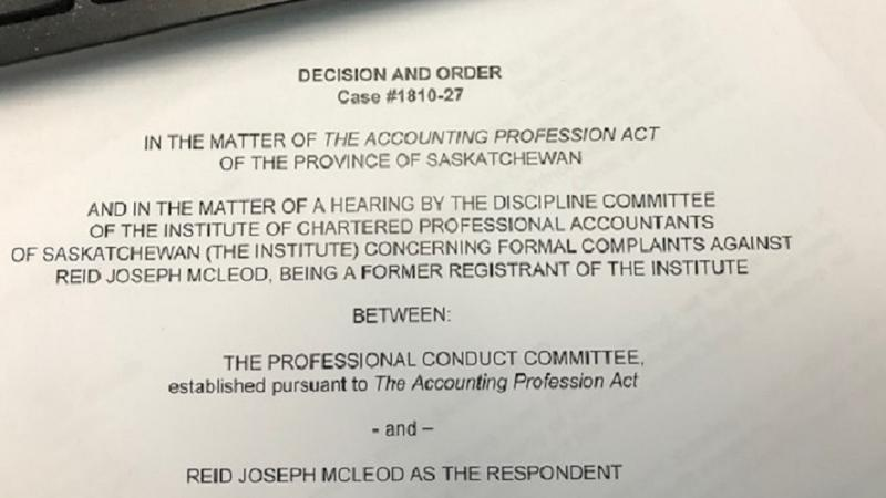 Former Prince Albert accountant fined $17,500 for misconduct