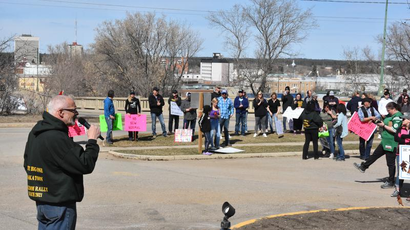 Anti-mask freedom rally held in Prince Albert