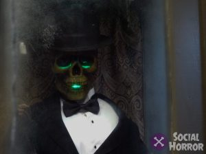 The creepy skeleton in the fortuneteller booth won't tell your future, but he will talk your ear off.