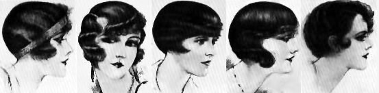 1920's Hairstyles - Bob - Fingerwaves - Pin Curls
