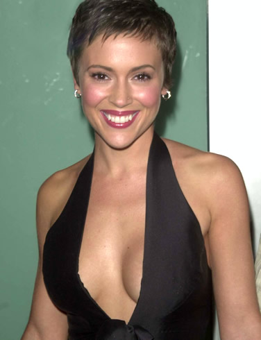 Women's Hairstyles - Pixie Cut - Alyssa Milano