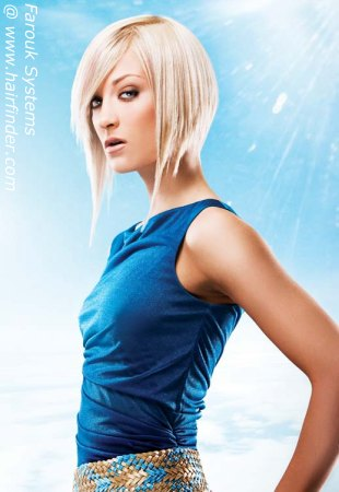 Women's Hairstyles - Asymmetrical Concave Bob