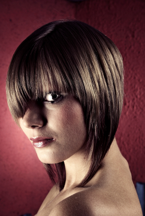 Women's Hairstyles - Inverted Bob - Side View