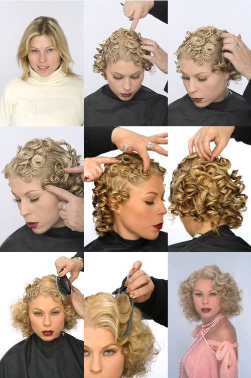 Women's Hairstyles - Pin Curls