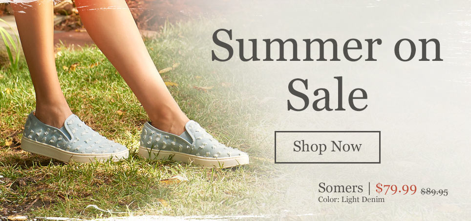 Summer on Sale. Shop Now. Featured Style: Somers in Light Denim. Was $89.95, Now $79.99