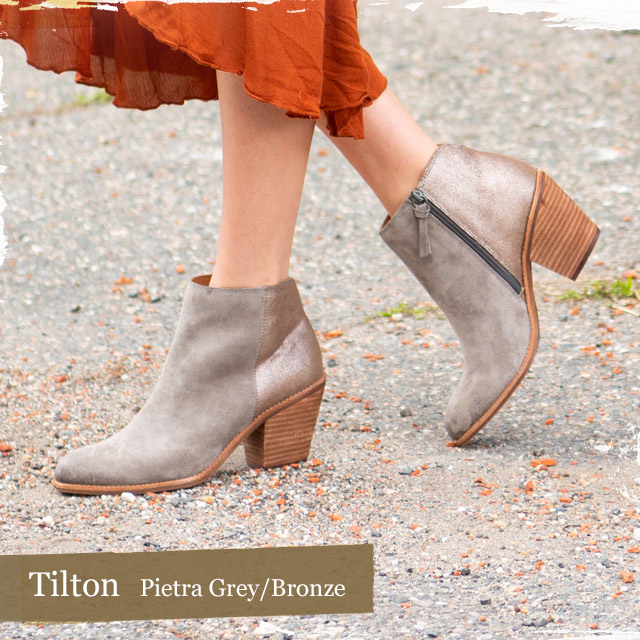 Featured style: Tilton in Pietra Grey/Bronze.   Shop the Tilton.