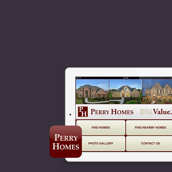 Perry Homes Mobile App Development