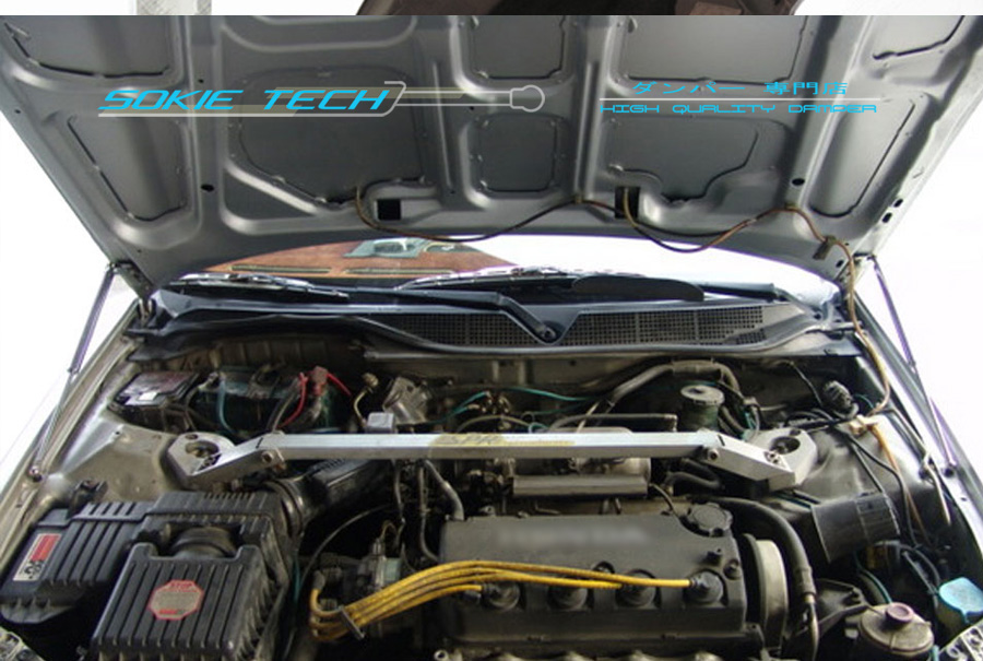 Bonnet Strut Shock Absorber Black Hood Damper For 97-01 Honda Prelude BB5 BB6