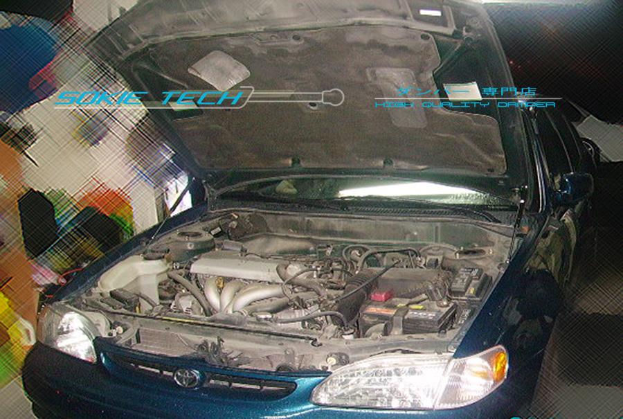 90-93 DX LX EX Honda Accord SE CB Carbon Fiber Strut Gas Hood Shock Lift Damper