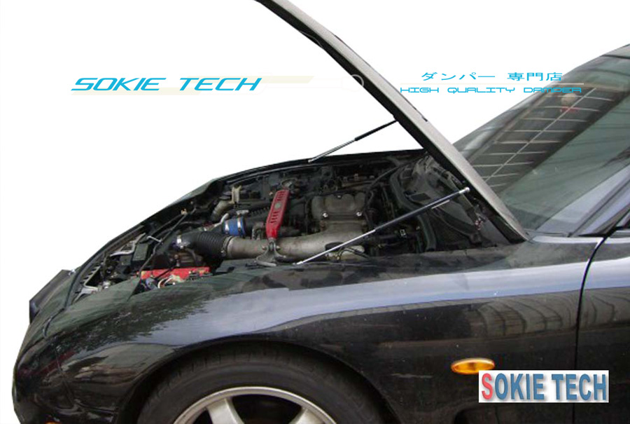93-97 Mazda RX-7 FD RX7 FD3S Black Strut Lift Hood Shock Stainless Damper Kit