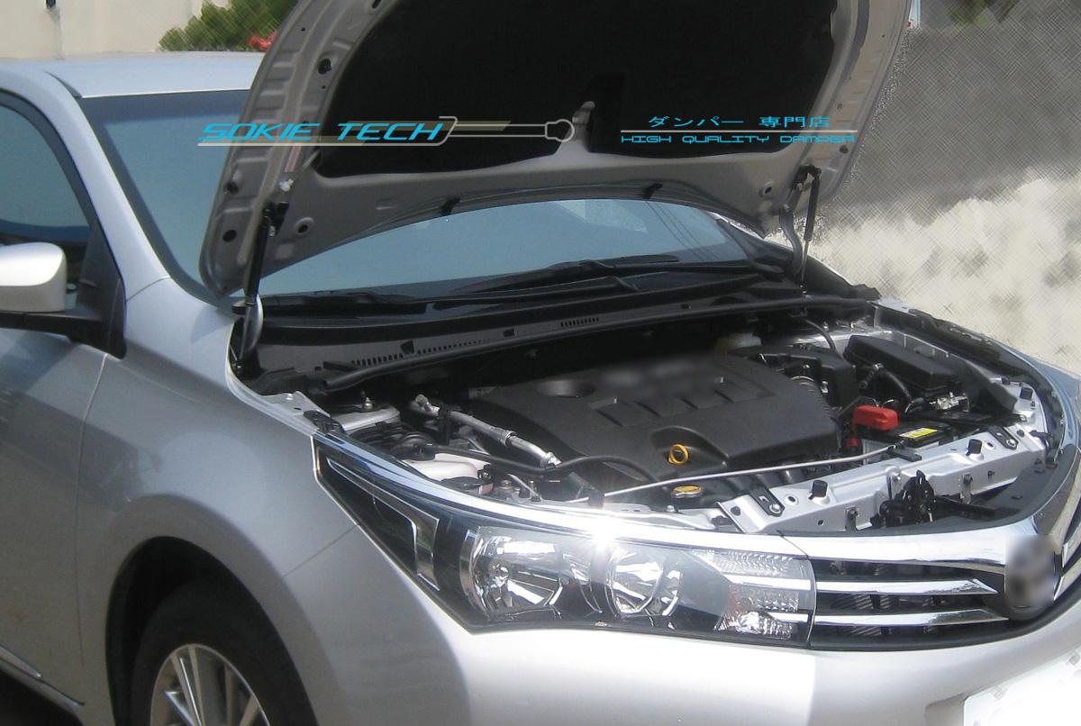 Black Strut Hood Shock Lift Gas Damper Kit for 14-16 Toyota Corolla Altis