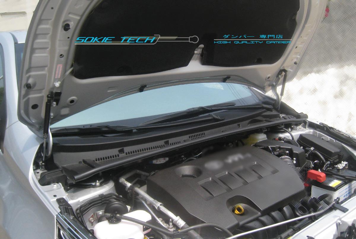 Silver Carbon Strut Hood Shock Lift Damper Kit For 14 16