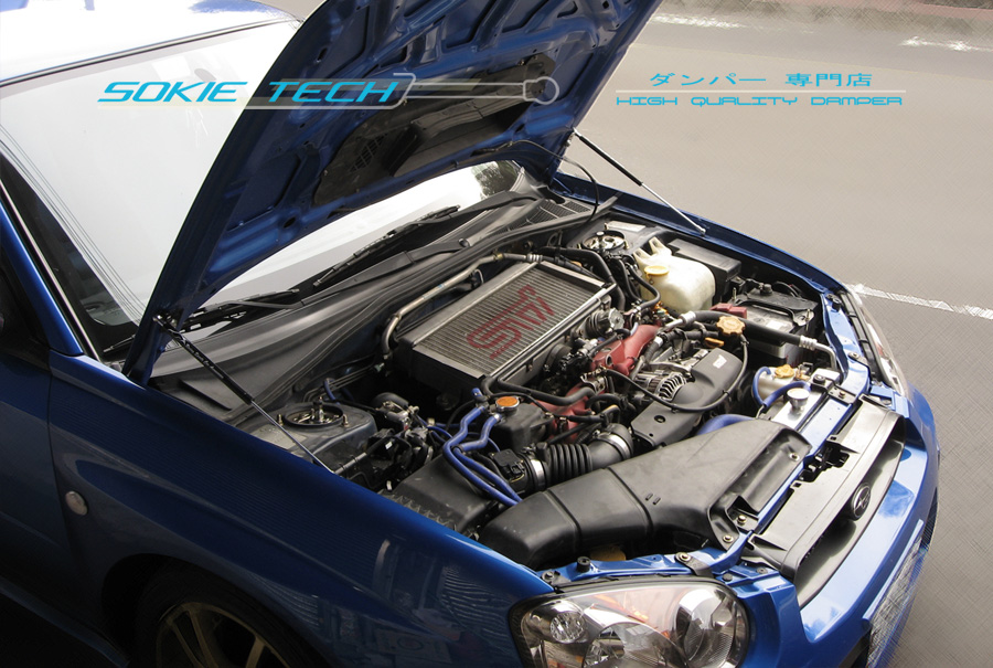 Details about White Strut Gas Lift Hood Shock Stainless Damper for Subaru  Impreza WRX GDA GDB