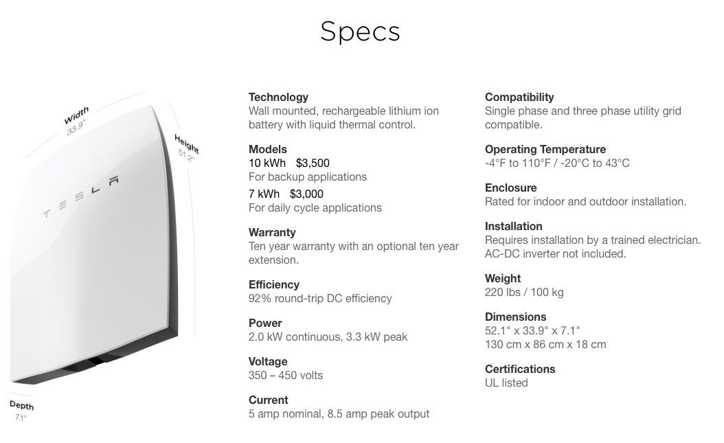 Tesla Battery Cost >> Tesla Powerwall Solar Com