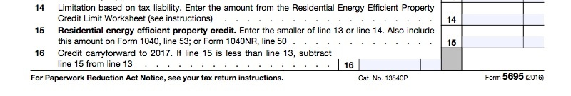 Form 5695 Lines 14-16