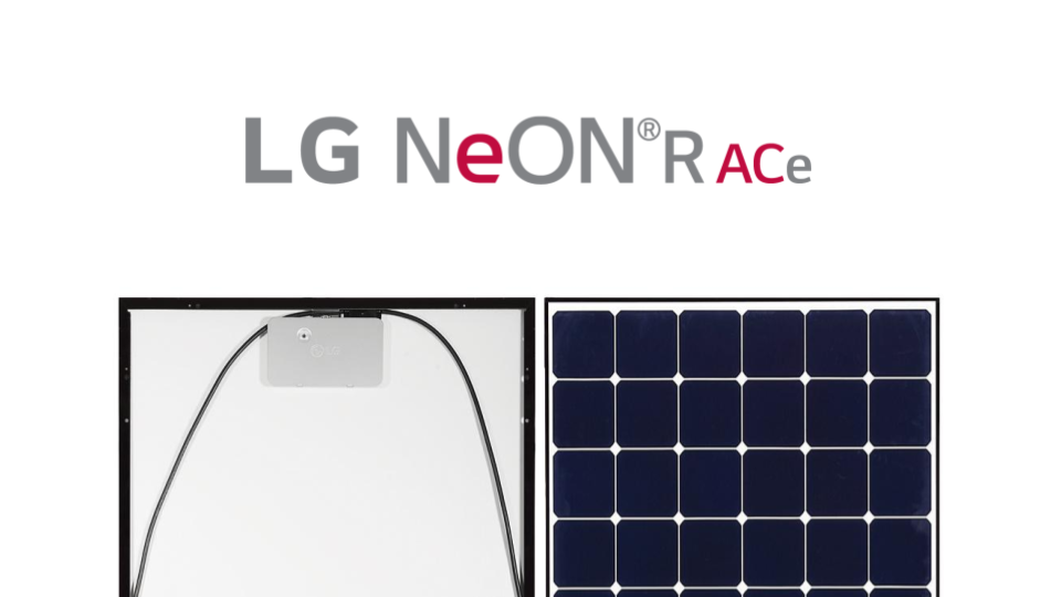 LG Neon R ACE Solar Panel with Integrated Microinverters