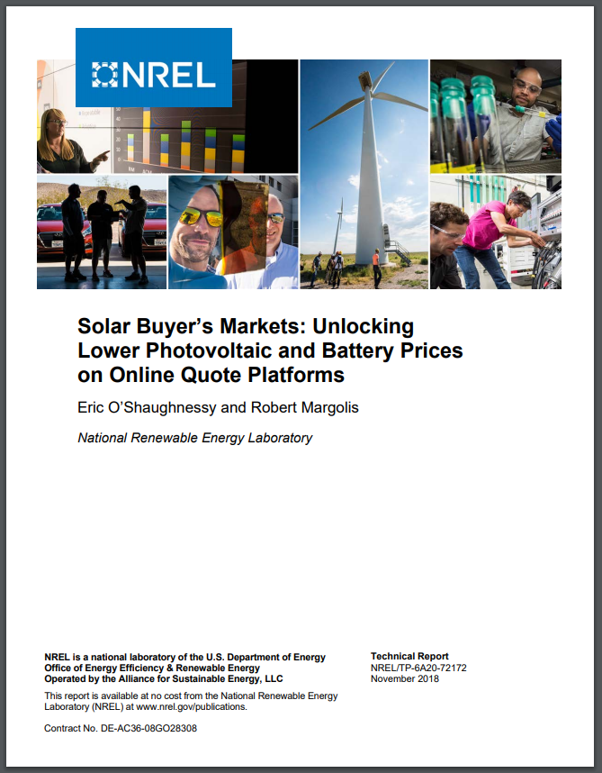 Solar Buyer's Markets: Unlocking Lower Photovoltaic and Battery Prices on Online Quote Platforms