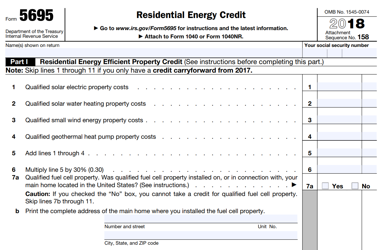 Solar Tax Credit Form 5695
