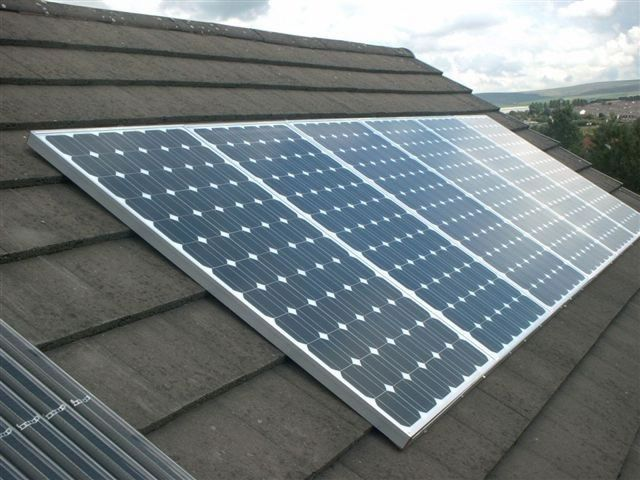 traditional silver frame, white backing, wired solar panel