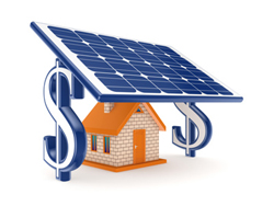 Save future money with electrical energy from the sun