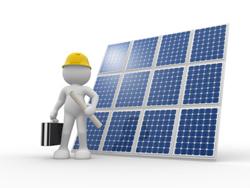 Local solar engineer building an installation plan