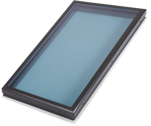 Flat Modern Blue Glass Skylight
