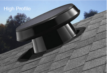 High Profile Solar Attic Fan