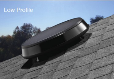 Low Profile Solar Attic Fan
