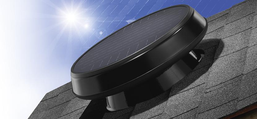 Low Profile Solar-Powered Attic Fan