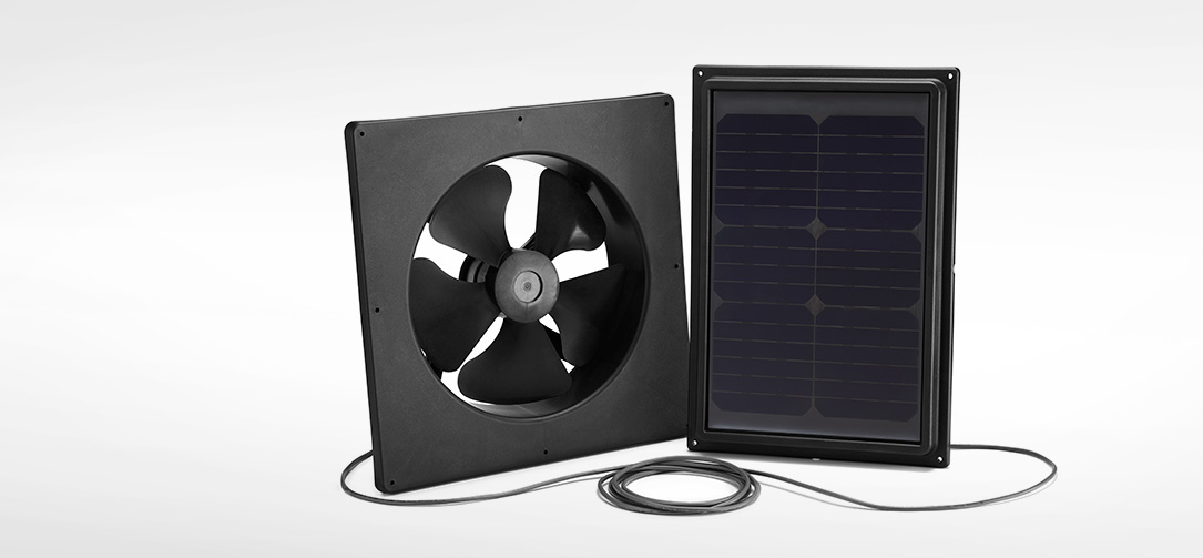 Interior Mount Solar Fan