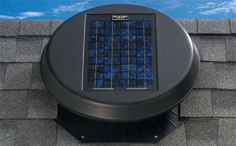 Solar-powered Attic Fan