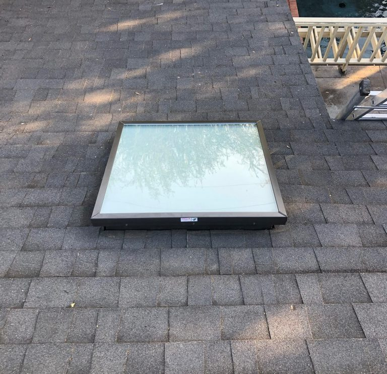 flat glass skylight replacement