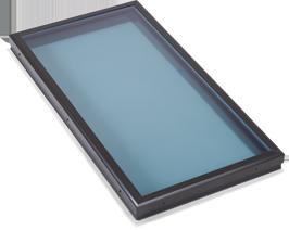 Flat Modern Blue Glass Skylight Monrovia, CA