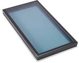 Flat Modern Blue Glass Skylight in Redondo Beach, CA