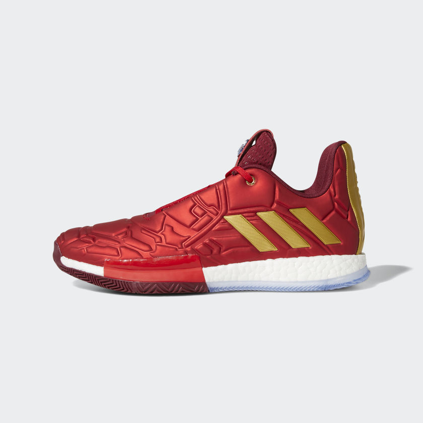 b2a183bf0a3f0 Marvel x adidas Harden Vol 3  Iron Man 04-26-2019