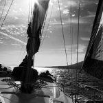 Yacht Kurusu Black and White photo