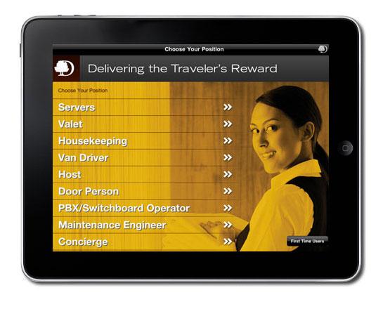 Doubletree Mobile iPad Training Application