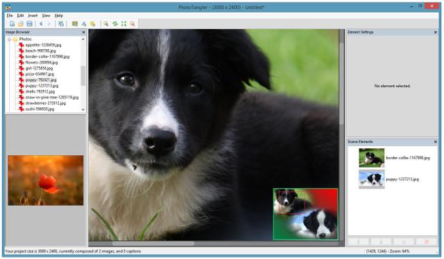 Collage editor mini-map