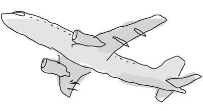 Drawn Airplane Take Off