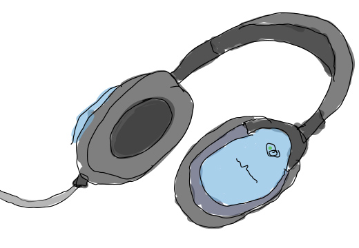 Drawn Noise Cancelling Headphones