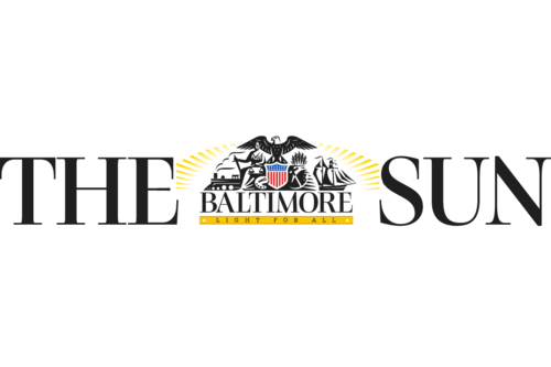 The baltimore sun logo vector image