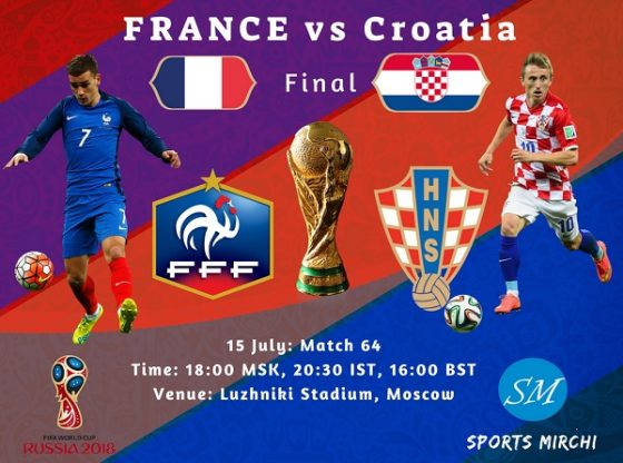 Image result for France vs Croatia live